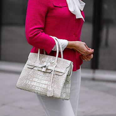 Bags and accessories handmade. Livemaster - original item Bag made of genuine leather crocodile color Himalaya. Handmade.