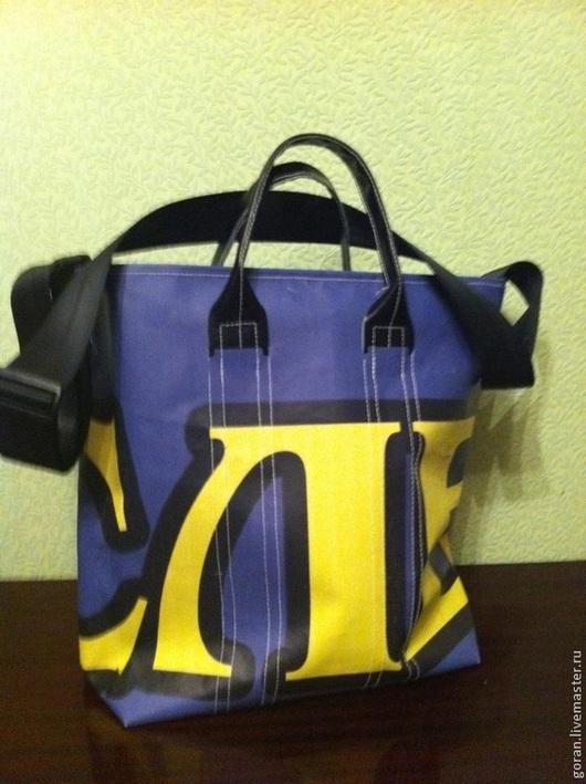 Женские сумки ручной работы. Ярмарка Мастеров - ручная работа. Купить Сумка из тента шоппер. Handmade. Сумка из тента