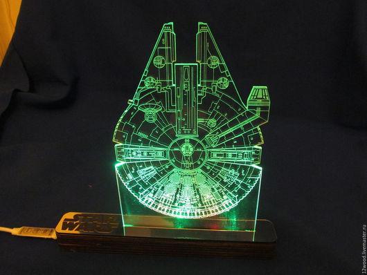 """Освещение ручной работы. Ярмарка Мастеров - ручная работа. Купить Светильник / ночник по мотивам """"Star Wars"""" Фалкон Миллениум. Handmade."""