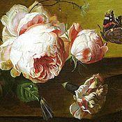 Картины и панно ручной работы. Ярмарка Мастеров - ручная работа Jan van Huysum – свободная копия. Handmade.