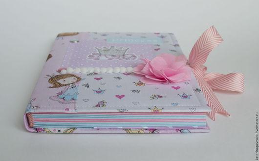 Блокноты ручной работы. Ярмарка Мастеров - ручная работа. Купить Блокнот для принцессы. Handmade. Бледно-розовый, переплётный картон