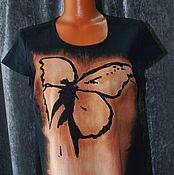 """Одежда ручной работы. Ярмарка Мастеров - ручная работа Платье """"Полет бабочки"""" 2  из льна. Handmade."""