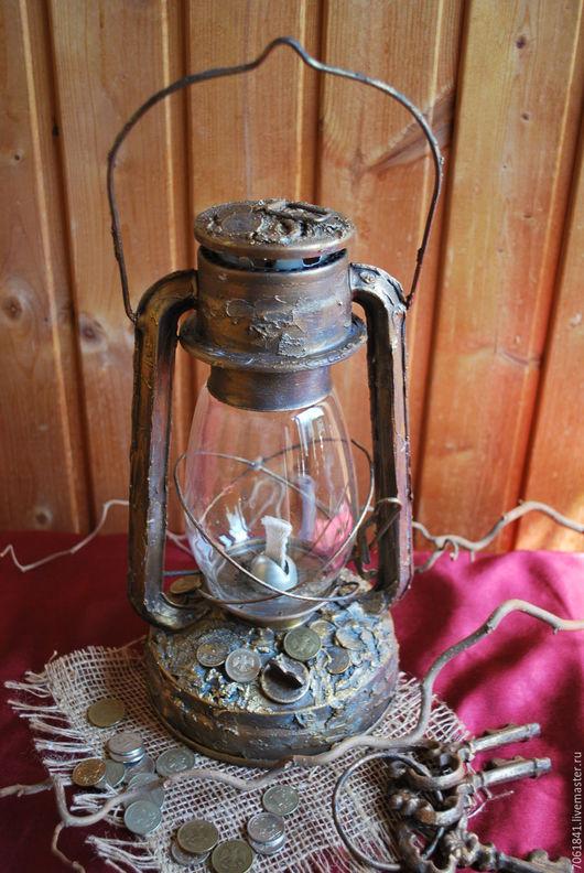 """Освещение ручной работы. Ярмарка Мастеров - ручная работа. Купить Керосиновая лампа """"Изобилие"""". Handmade. Лампа керосиновая, имитация бронзы"""