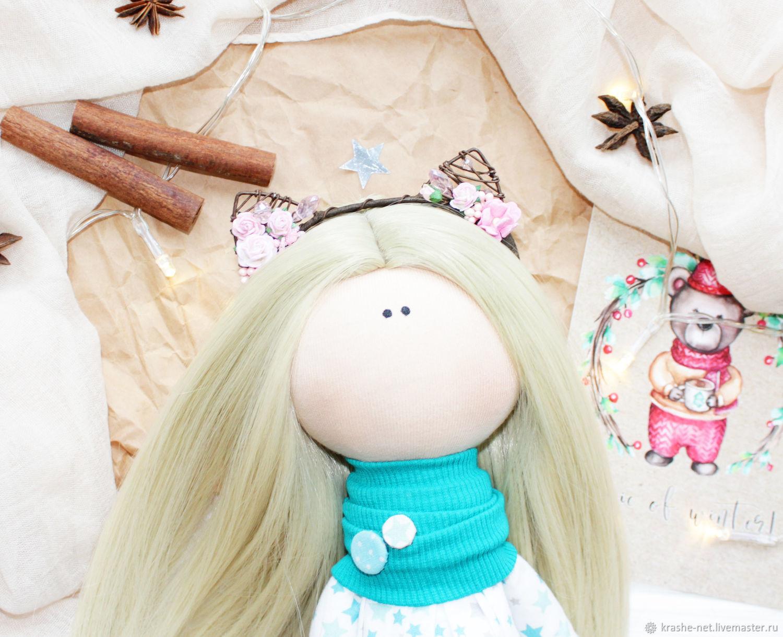 Как сделать кукле ободок с ушками 527
