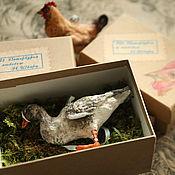 Куклы и игрушки handmade. Livemaster - original item Goose with white forehead cottonwool goose. Handmade.