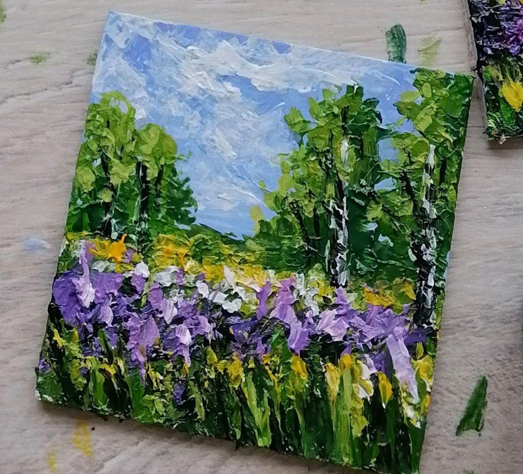 Картина миниатюра магнит купить пейзаж, Картины, Нижний Новгород,  Фото №1