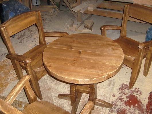 Мебель ручной работы. Ярмарка Мастеров - ручная работа. Купить на троих. Handmade. Коричневый, деревянный, стол, сосна