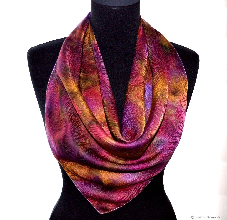 Shawls   Warm Stoles handmade. Livemaster - handmade. Buy Bright silk  Paisley shawl Oriental ... bb5ca9095