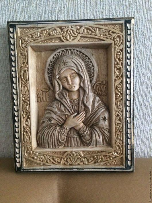 """Иконы ручной работы. Ярмарка Мастеров - ручная работа. Купить Икона Пресвятая Дева Мария """"Умиление"""". Handmade. Комбинированный"""