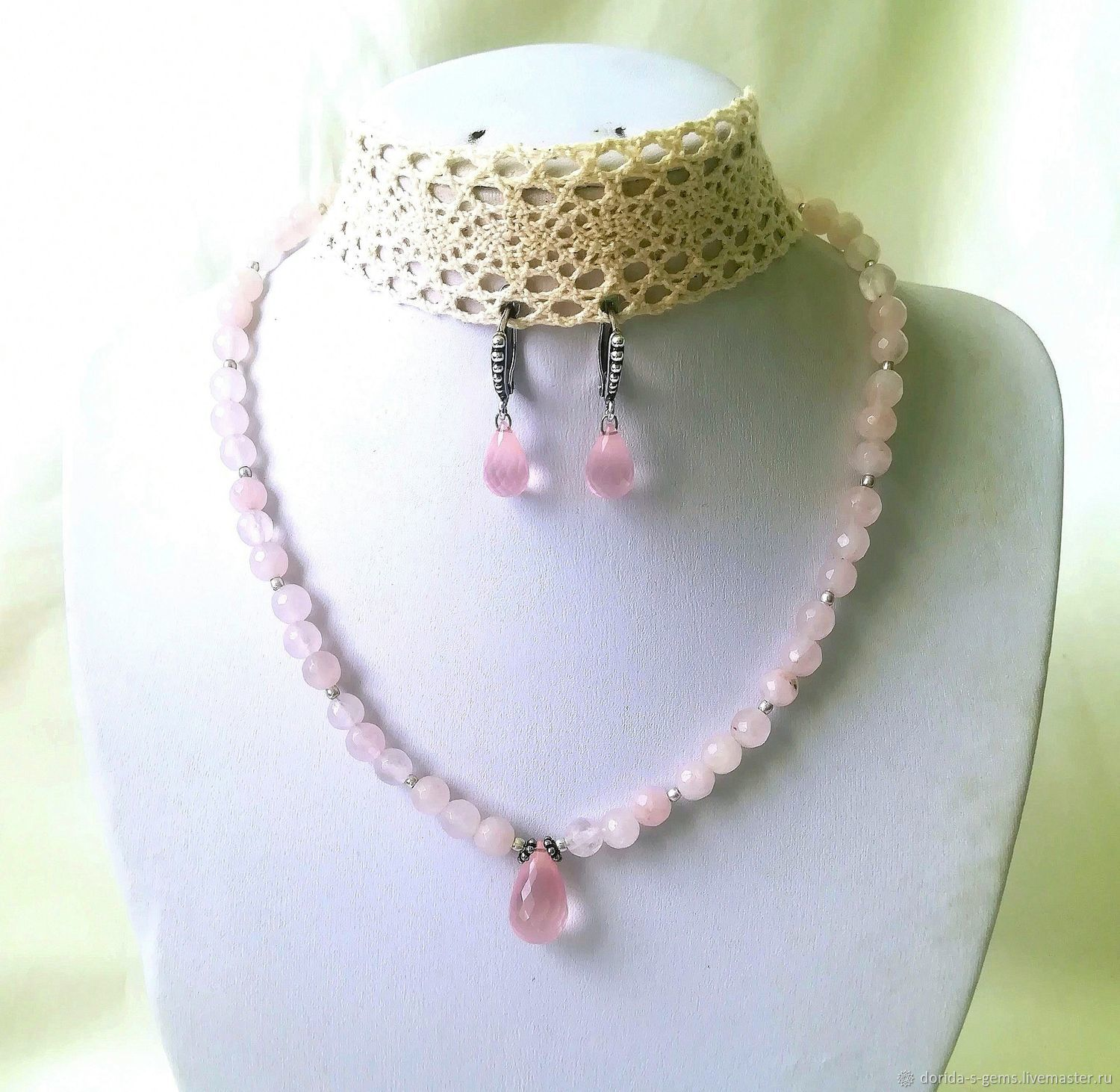 c82cd18d8 ... designer necklace, necklace for every day, necklace pink quartz, necklace  pink