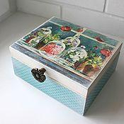 Для дома и интерьера ручной работы. Ярмарка Мастеров - ручная работа Чайная коробка (шкатулка). Handmade.