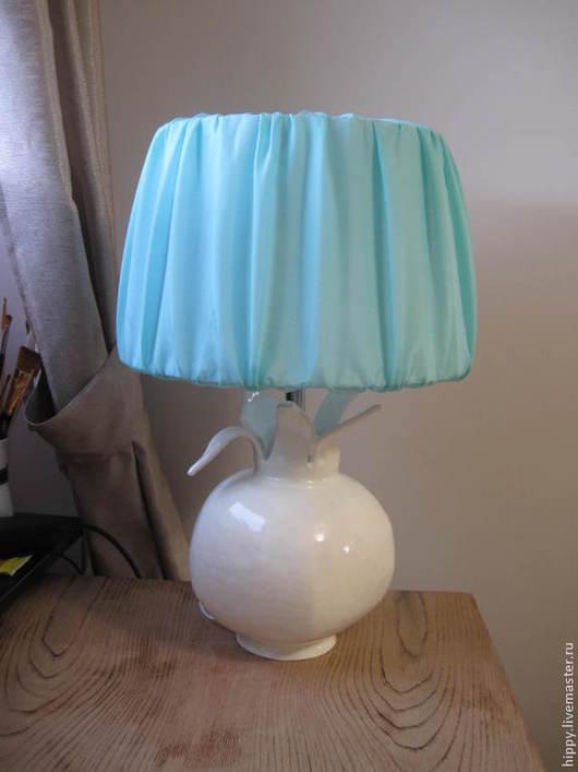 Освещение ручной работы. Ярмарка Мастеров - ручная работа. Купить Гранат-лампа.. Handmade. Мятный, лампа, глазури