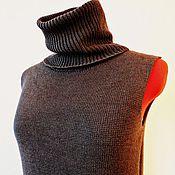 """Одежда ручной работы. Ярмарка Мастеров - ручная работа Вязаный жилет """"Серый кардинал"""". Handmade."""