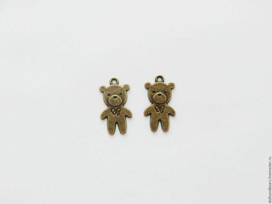 Р-337 Мишка, 25x15мм, цвет бронза 10руб