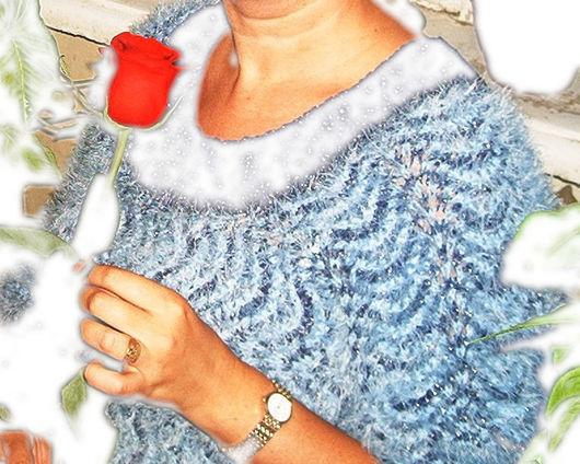 Кофты и свитера ручной работы. Ярмарка Мастеров - ручная работа. Купить Джемпер сине-голубой. Handmade. Синий, кардиган, шерстяной