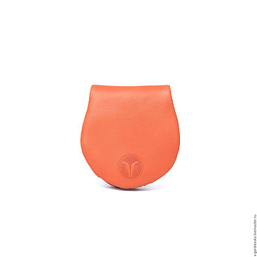 Сумки и аксессуары ручной работы. Ярмарка Мастеров - ручная работа Монетница Alfa, оранжевая. Handmade.