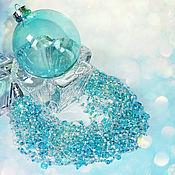 Украшения ручной работы. Ярмарка Мастеров - ручная работа Воздушное колье Бирюзовый лед. Handmade.