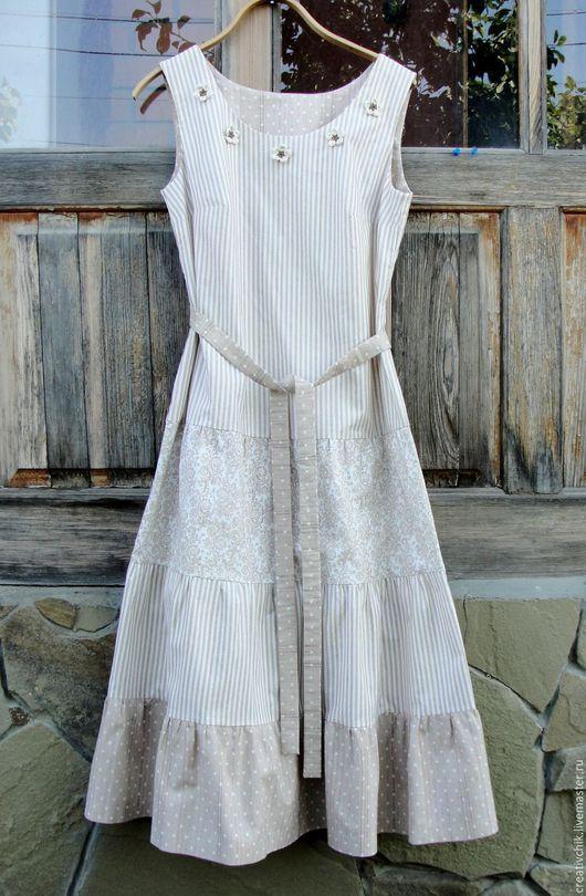 Платья ручной работы. Ярмарка Мастеров - ручная работа. Купить Летнее платье  Яблоневый цвет .. Handmade. Платье для женщины
