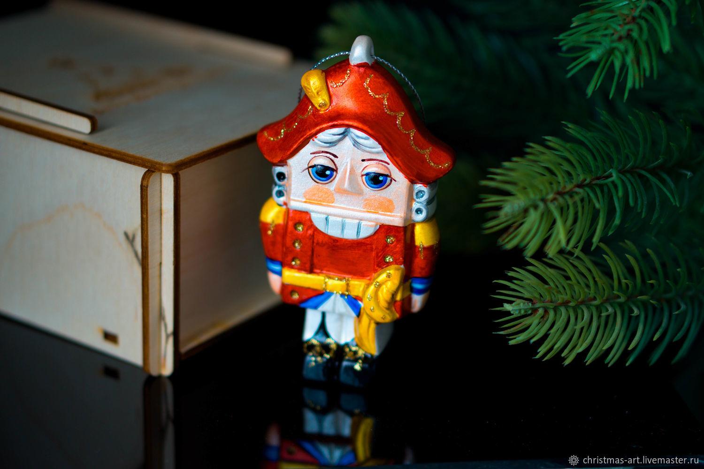 Christmas tree toy Christmas porcelain Christmas tree toy Nutcracker, Christmas decorations, Moscow,  Фото №1