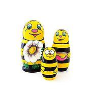 Русский стиль ручной работы. Ярмарка Мастеров - ручная работа Матрёшка расписная 3 куклы Пчёлки. Handmade.