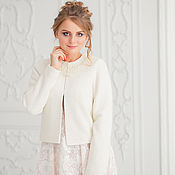Свадебный салон handmade. Livemaster - original item Wedding coat, Bridal jacket, Bridal coat, Inna Cream. Handmade.
