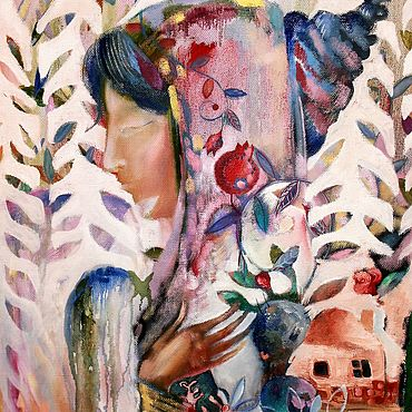 """Картины и панно ручной работы. Ярмарка Мастеров - ручная работа Картина маслом """"Греческая нимфа"""". Handmade."""