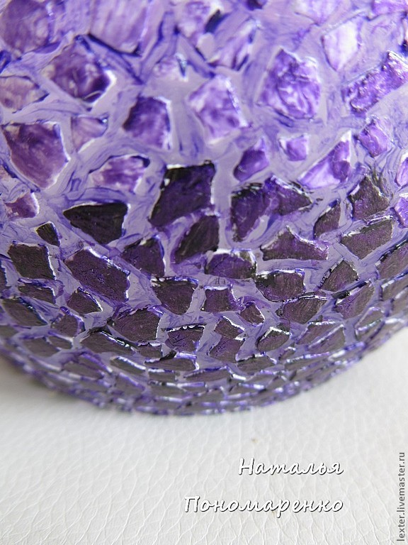 Вазы ручной работы. Стеклянная ваза Фиолетовые закаты