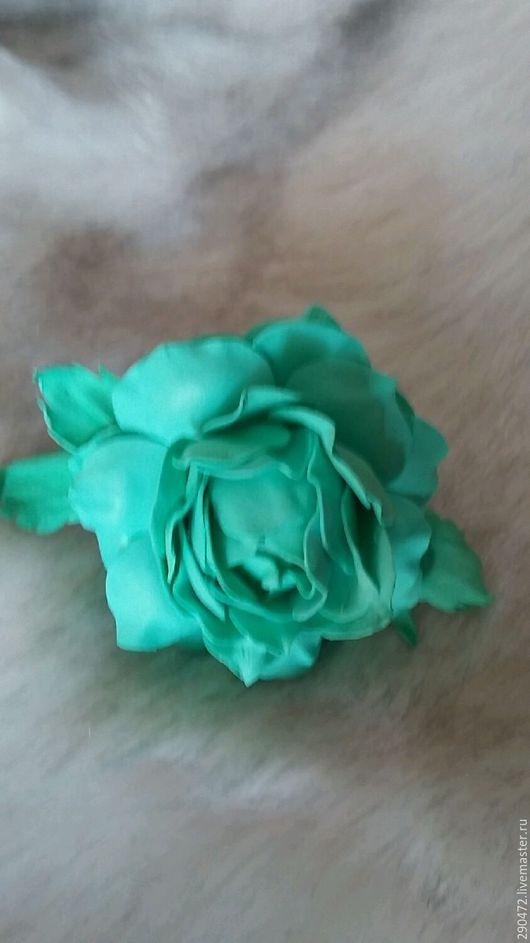 """Заколки ручной работы. Ярмарка Мастеров - ручная работа. Купить Резинка для волос """"Мятная роза"""". Handmade. Для волос"""