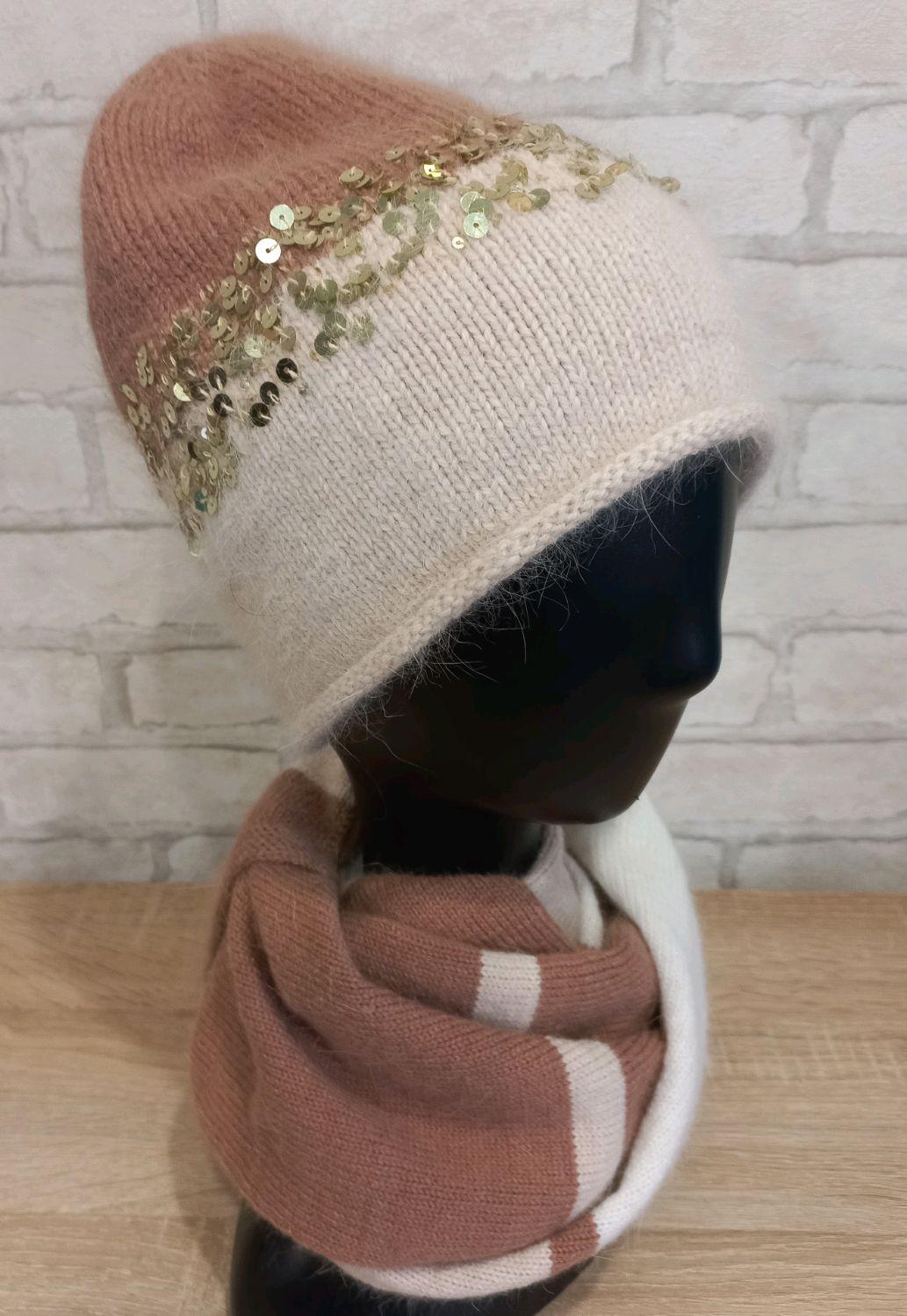 Комплект шапка+шарф, Шапки, Среднеуральск,  Фото №1