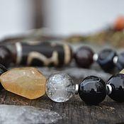 Украшения handmade. Livemaster - original item Wealth bracelet made of black agate, Himalayan quartz, JI. Handmade.