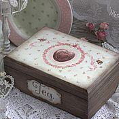 """Для дома и интерьера ручной работы. Ярмарка Мастеров - ручная работа Шкатулка """"Чай с шоколадом"""". Handmade."""