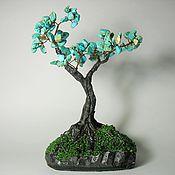 Цветы и флористика handmade. Livemaster - original item Turquoise tree. Handmade.