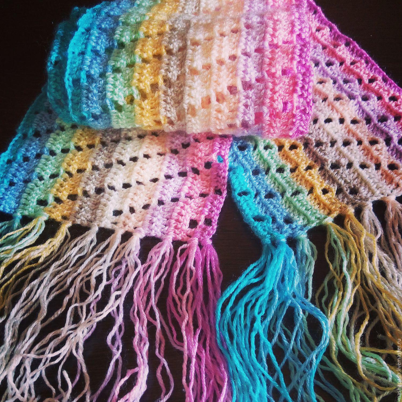 Связать шарф крючком картинки
