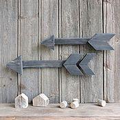 Для дома и интерьера ручной работы. Ярмарка Мастеров - ручная работа А мы идем на юг - стрелки из дерева. Handmade.