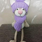 Мягкие игрушки ручной работы. Ярмарка Мастеров - ручная работа Вязаный крючком котик. Handmade.