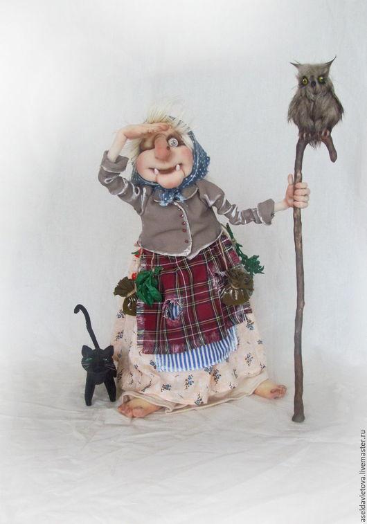 Сказочные персонажи ручной работы. Ярмарка Мастеров - ручная работа. Купить Баба яга. Handmade. Комбинированный, искуственный мех