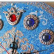 """Для дома и интерьера ручной работы. Ярмарка Мастеров - ручная работа Ажурные сувенирные часы """" Фирузэ"""" (турецк. """"Бирюза""""). Handmade."""