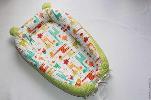 Для новорожденных, ручной работы. Ярмарка Мастеров - ручная работа. Купить Кокон для новорожденногО. Handmade. Салатовый, гнездо, холлофайбер