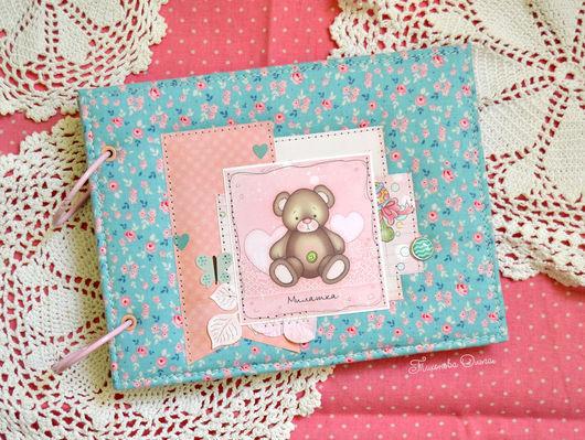 фотоальбом для девочки, детский фотоальбом, фотоальбом в подарок, купить подарок новорожденному, подарок для девочки, альбом детский, альбом для фотографий, детский альбом купить, голубой
