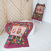 Для дома и интерьера handmade. Livemaster - original item Newborn cotton patchwork quilt