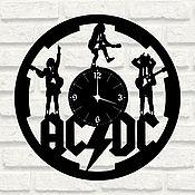 """Часы ручной работы. Ярмарка Мастеров - ручная работа Часы """"AC/DC"""" из виниловых пластинок. Handmade."""