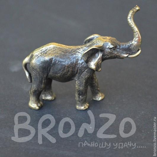 Статуэтки ручной работы. Ярмарка Мастеров - ручная работа. Купить Слон из бронзы. Handmade. Статуэтка, для украшений, украшение для интерьера, слон
