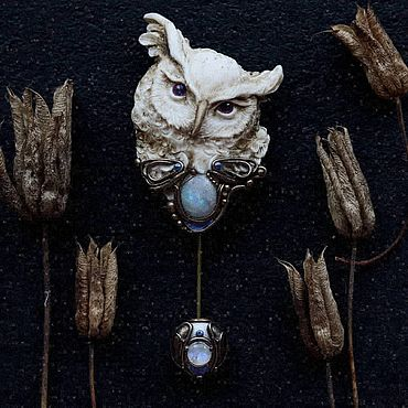 Decorations handmade. Livemaster - original item brooches:
