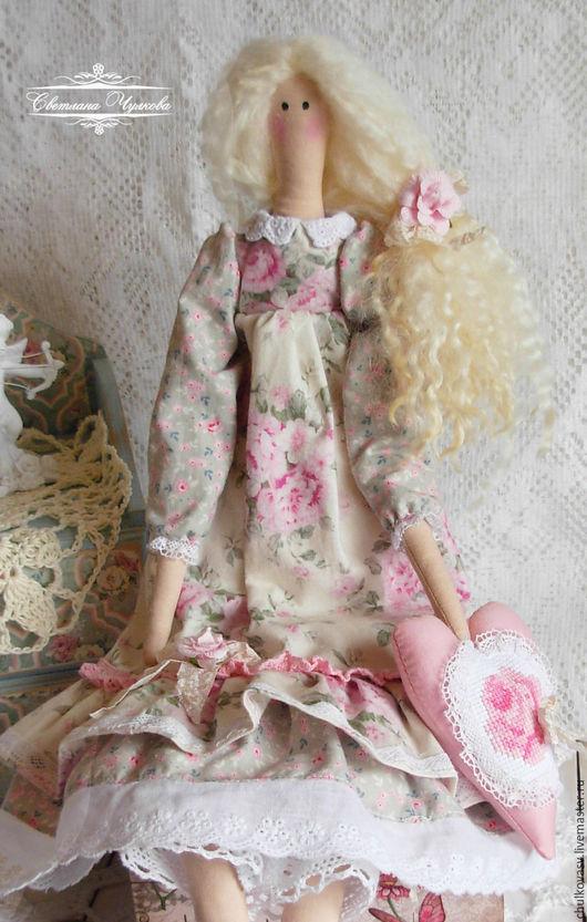 Куклы Тильды ручной работы. Заказать Виолетта. Текстильная интерьерная кукла в стиле Тильда. Шебби шик. Светлана Чулкова (Chulkovasv). Ярмарка Мастеров.