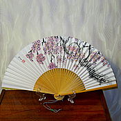 """Аксессуары ручной работы. Ярмарка Мастеров - ручная работа Веер """"Сакура"""". Handmade."""