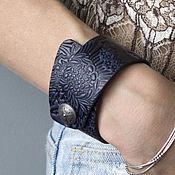Украшения handmade. Livemaster - original item Bracelet leather Purple-black. Handmade.