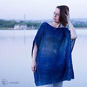 Одежда ручной работы. Ярмарка Мастеров - ручная работа Гуд бай, Америка Безрукавый пуловер оверсайз из кауни Большие размеры. Handmade.