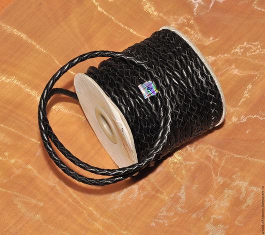 Для украшений ручной работы. Ярмарка Мастеров - ручная работа. Купить Шнур кожаный, 5. Handmade. Черный, кожа, шнур