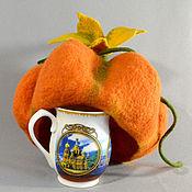 Грелки на чайник ручной работы. Ярмарка Мастеров - ручная работа Грелки на чайник: Грелка на чайник: тыквы разные нужны. Handmade.