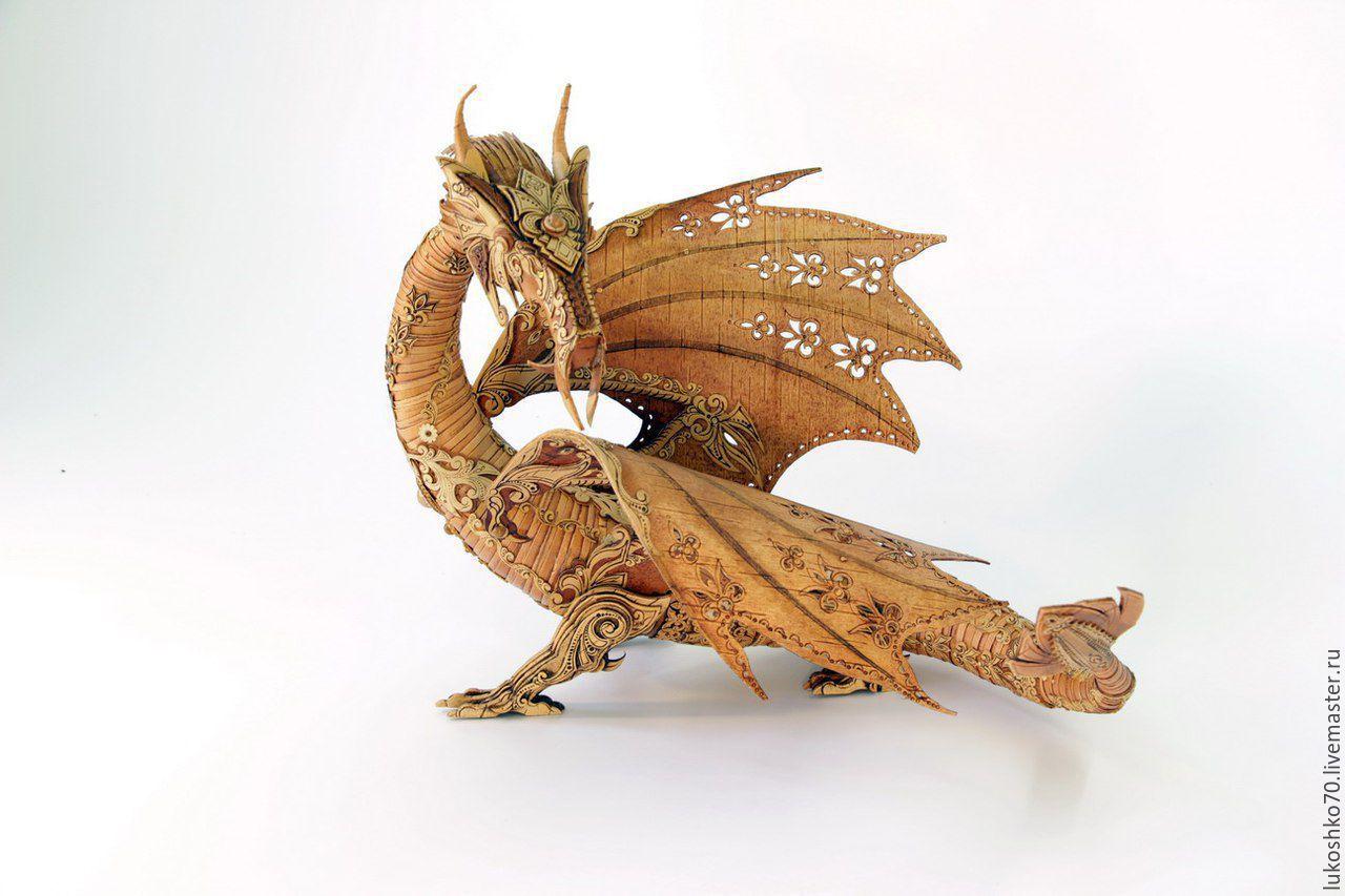 Подарки для мужчин, ручной работы. Ярмарка Мастеров - ручная работа. Купить Дракон из бересты. Дракон сувенирный. Дорогой подарок на праздник. Handmade.
